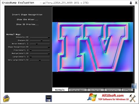 Capture d'écran CrazyBump pour Windows 10