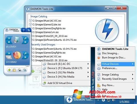 Capture d'écran DAEMON Tools Lite pour Windows 10