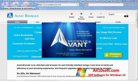 Capture d'écran Avant Browser pour Windows 10