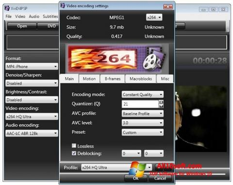 Capture d'écran XviD4PSP pour Windows 10