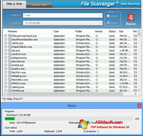 Capture d'écran File Scavenger pour Windows 10