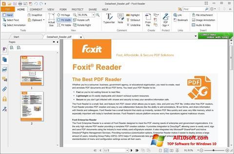 Capture d'écran Foxit Reader pour Windows 10