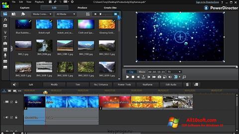 Capture d'écran CyberLink PowerDirector pour Windows 10