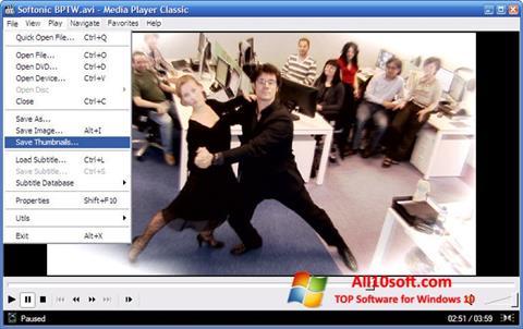 Capture d'écran Media Player Classic pour Windows 10