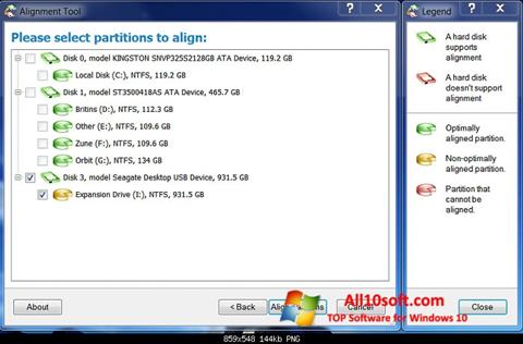 Capture d'écran Paragon Alignment Tool pour Windows 10