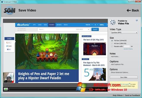 Capture d'écran Screencast-O-Matic pour Windows 10