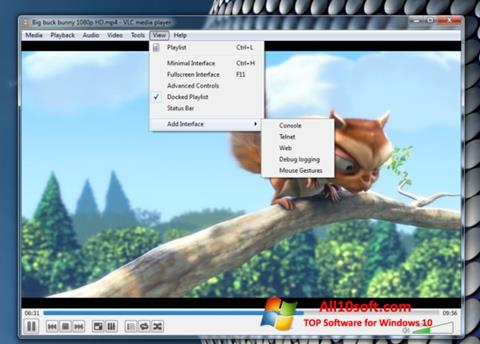 Capture d'écran VLC Media Player pour Windows 10