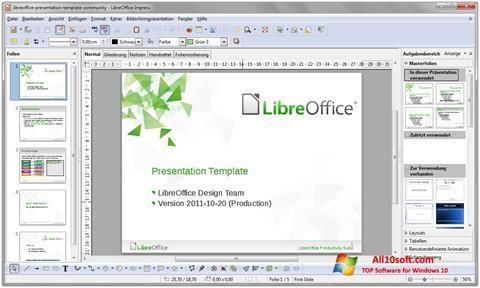 Capture d'écran LibreOffice pour Windows 10