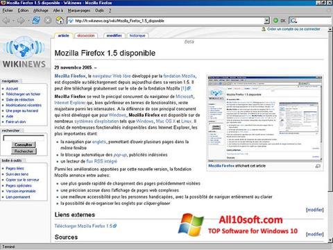 Capture d'écran Mozilla Firefox pour Windows 10