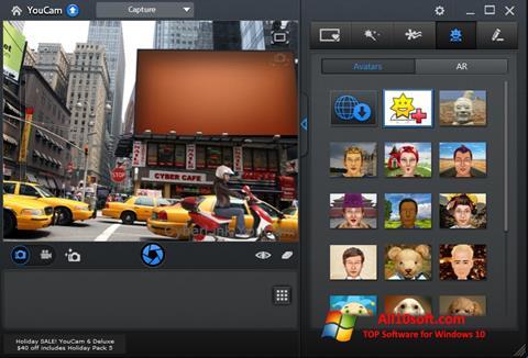 Capture d'écran CyberLink YouCam pour Windows 10