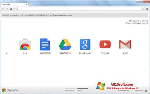 Capture d'écran Google Chrome pour Windows 10