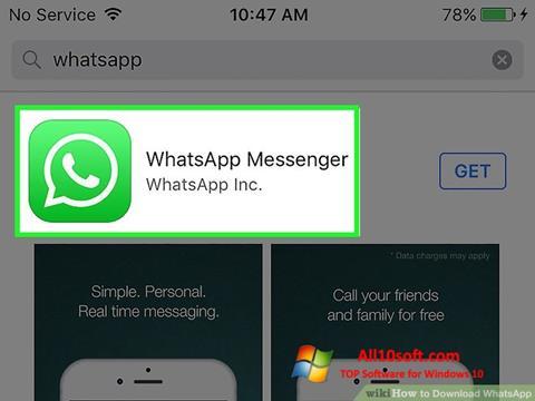 Capture d'écran WhatsApp pour Windows 10