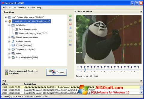 Capture d'écran ConvertXToDVD pour Windows 10