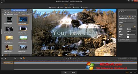 Capture d'écran Pinnacle Studio pour Windows 10