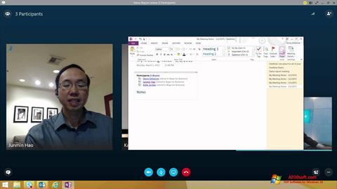 Capture d'écran Skype for Business pour Windows 10