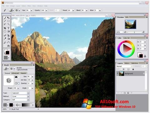 Capture d'écran Artweaver pour Windows 10