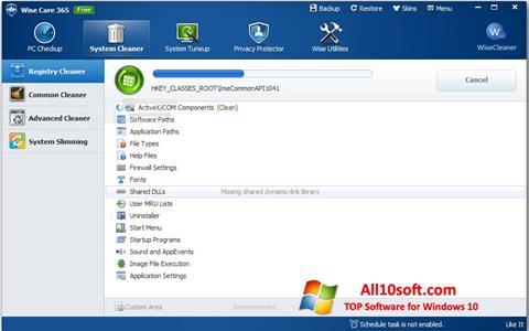 Capture d'écran Wise Care 365 pour Windows 10