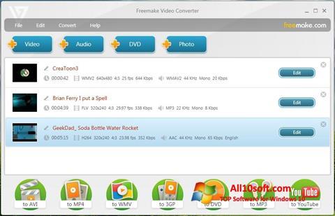 Capture d'écran Freemake Video Converter pour Windows 10