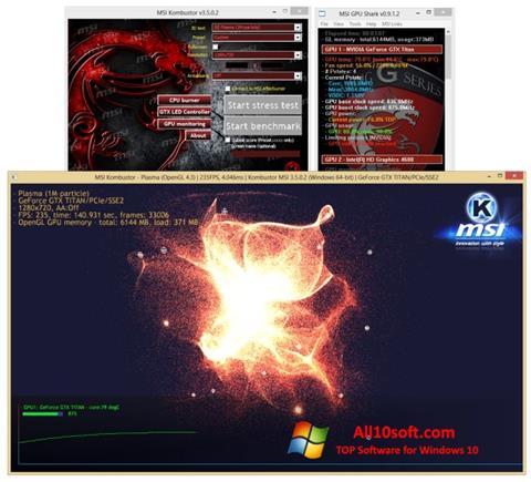 Capture d'écran MSI Kombustor pour Windows 10