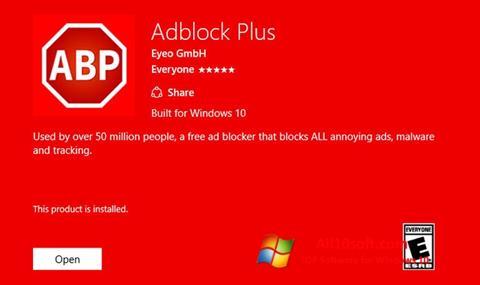 Capture d'écran Adblock Plus pour Windows 10