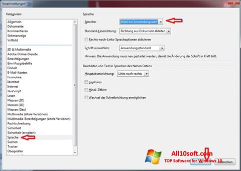 Capture d'écran Adobe Reader pour Windows 10
